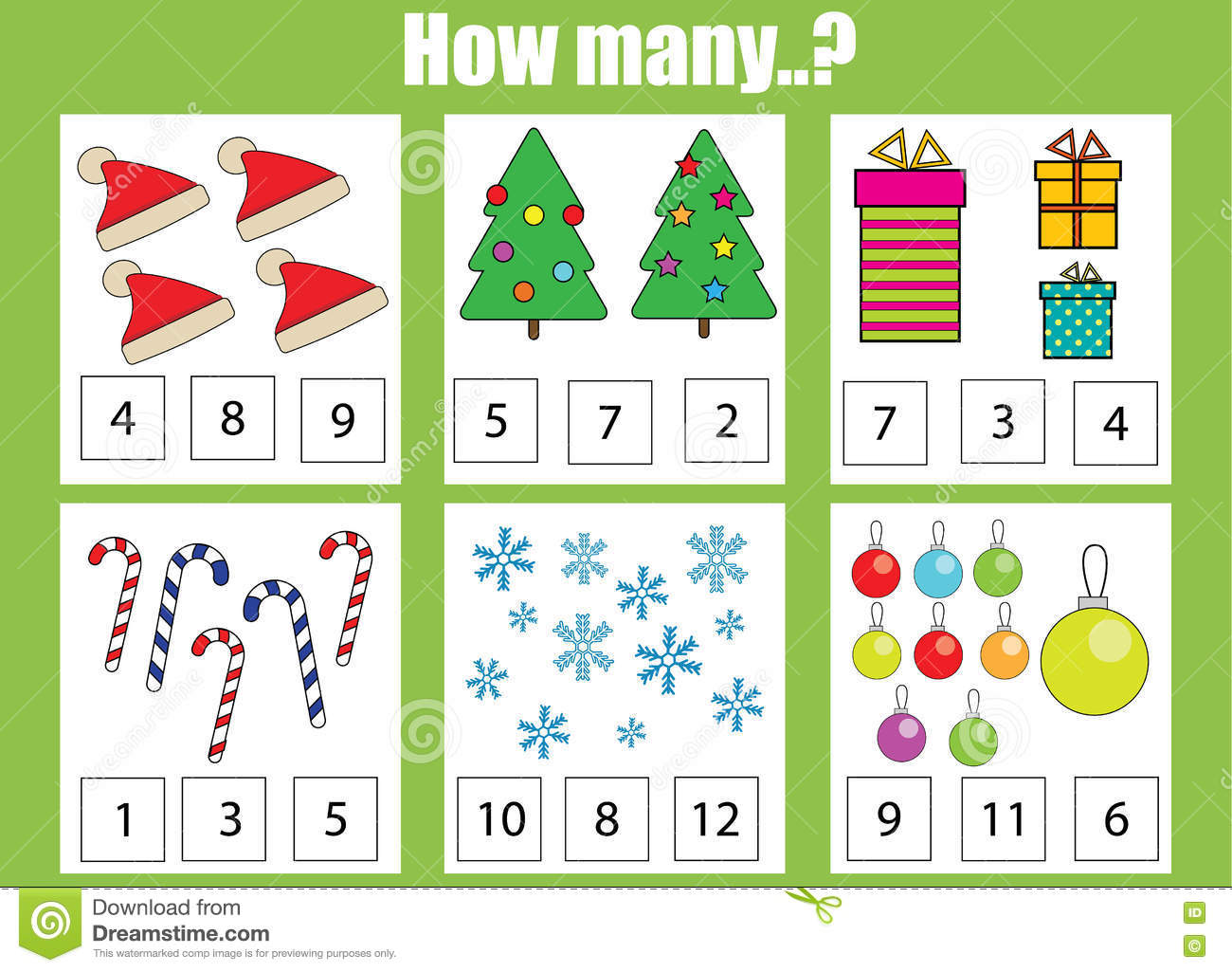 Addition And Subtraction Kindergarten Worksheet Christmas
