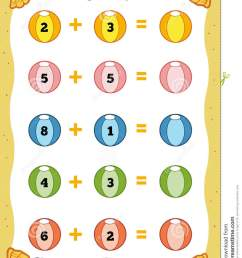 Counting Educational Game For Children. Addition Worksheets Stock Vector -  Illustration of group [ 1300 x 1009 Pixel ]