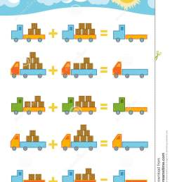 Counting Game For Children. Addition Worksheets Stock Vector - Illustration  of graphic [ 1300 x 1009 Pixel ]