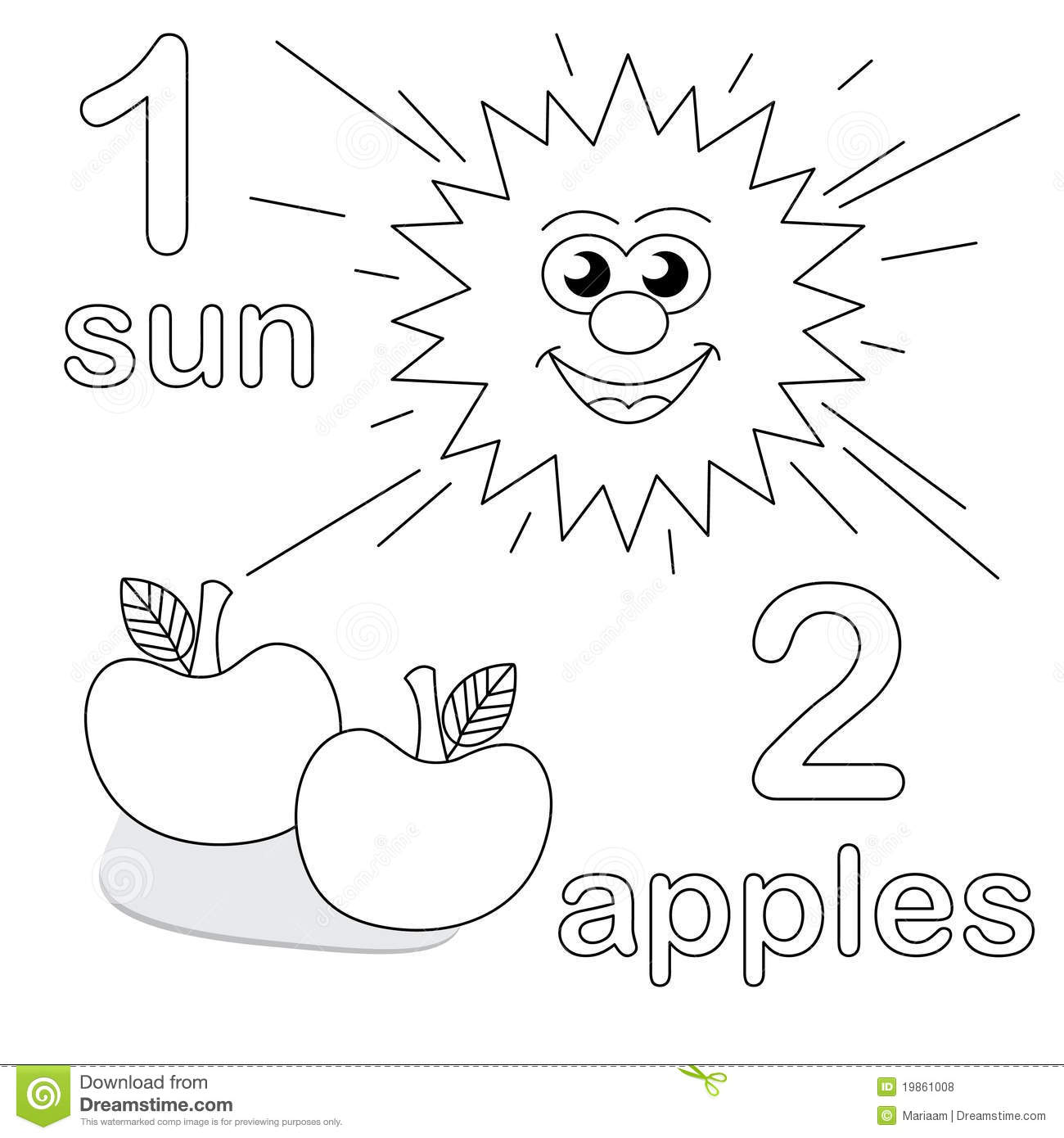 Counting Game With Number 1 & 2 Royalty Free Stock Photos