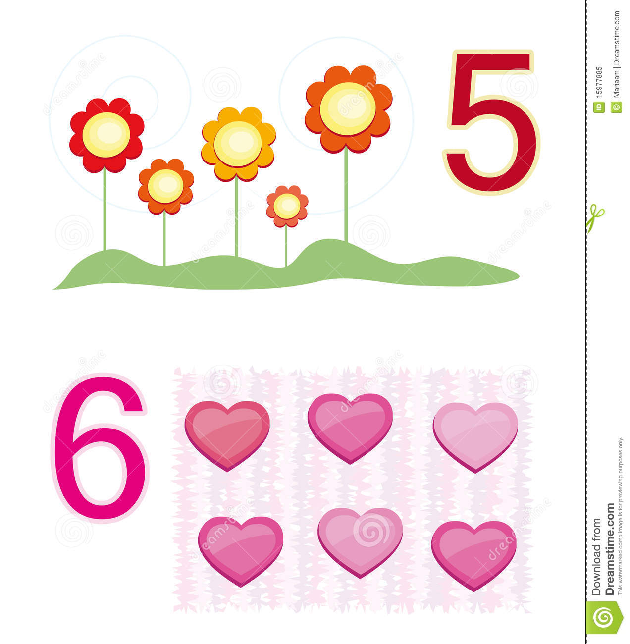 Counting Game Number 5 Amp 6 Stock Vector