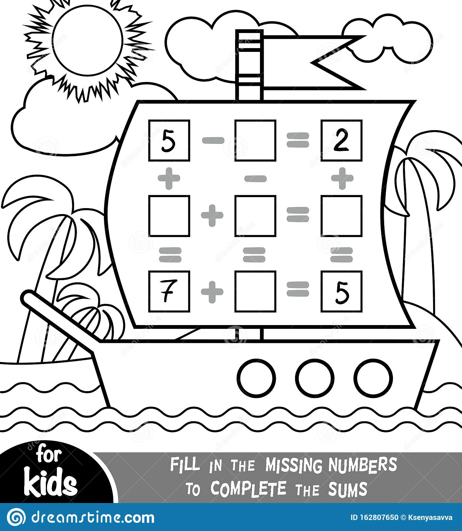 Counting Game For Preschool Children Addition And