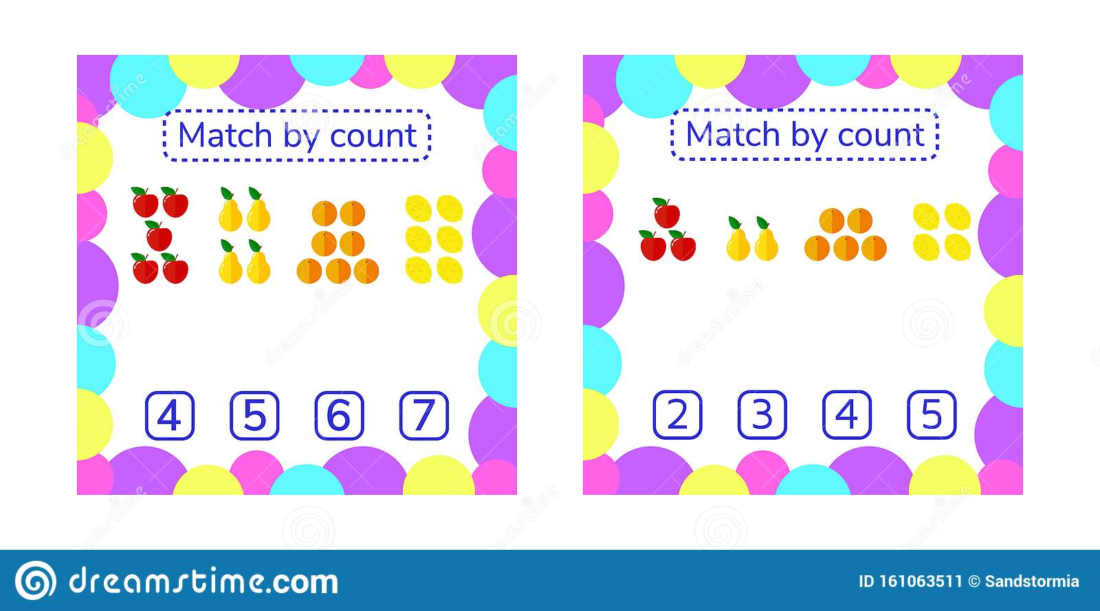 Counting Game For Preschool Children Count Items In The