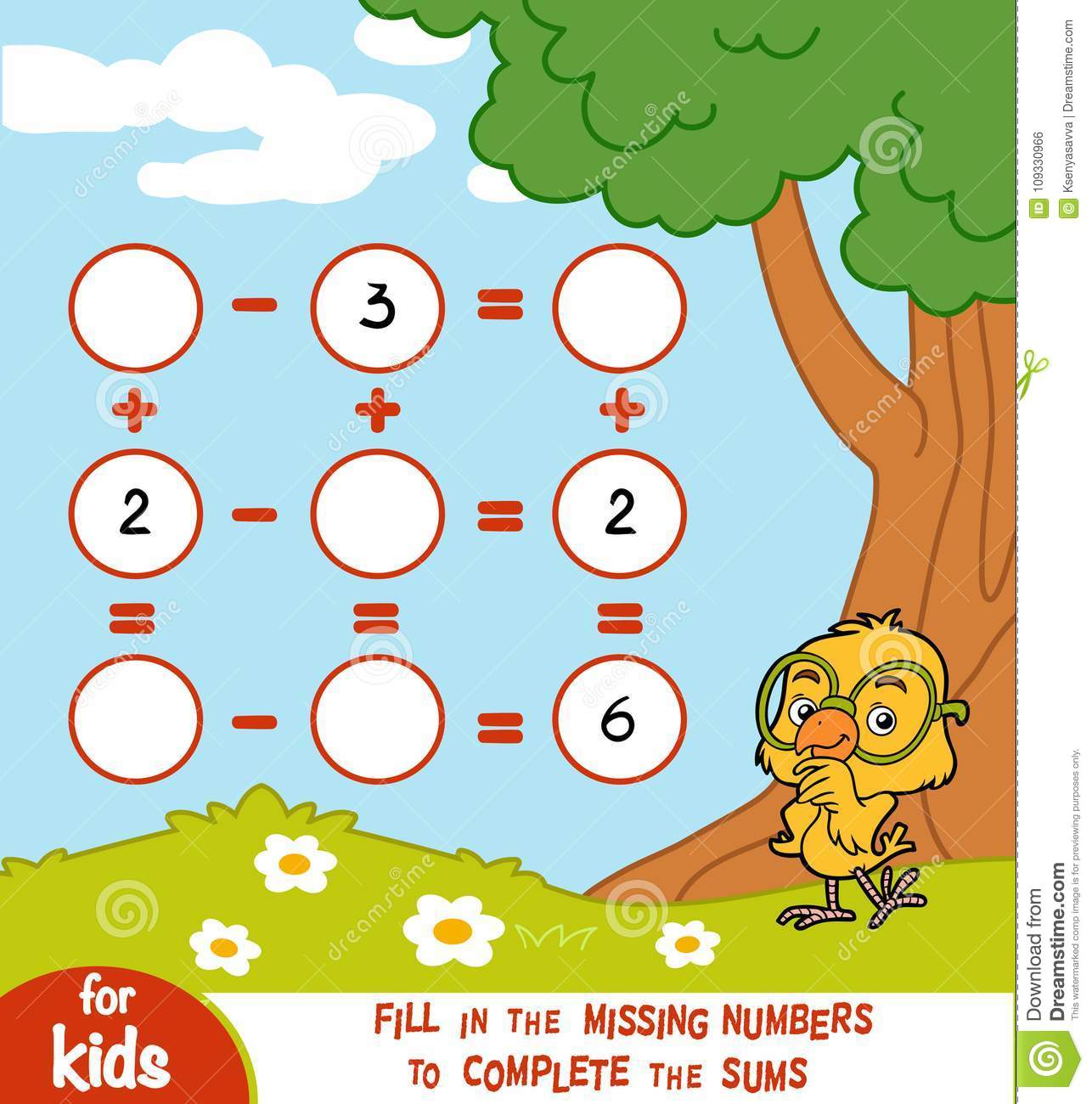 Counting Game For Preschool Children Worksheets On A