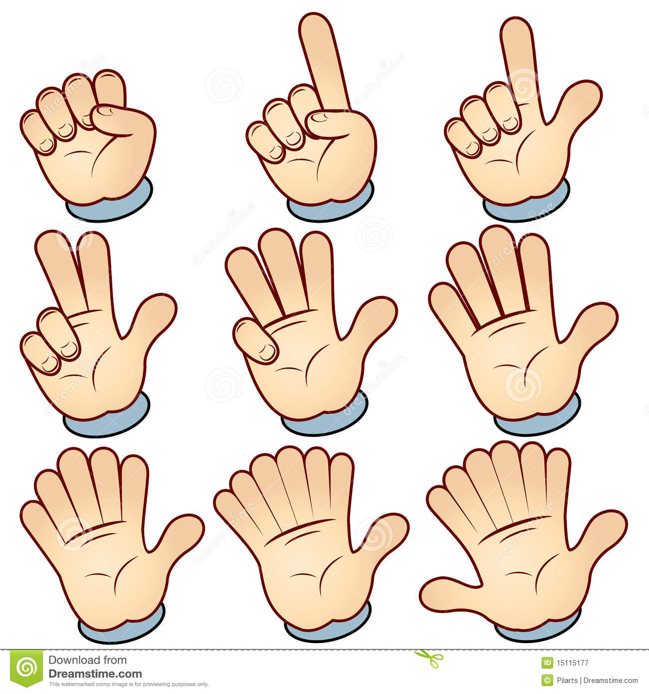 Counting Hand Royalty Free Stock Photography