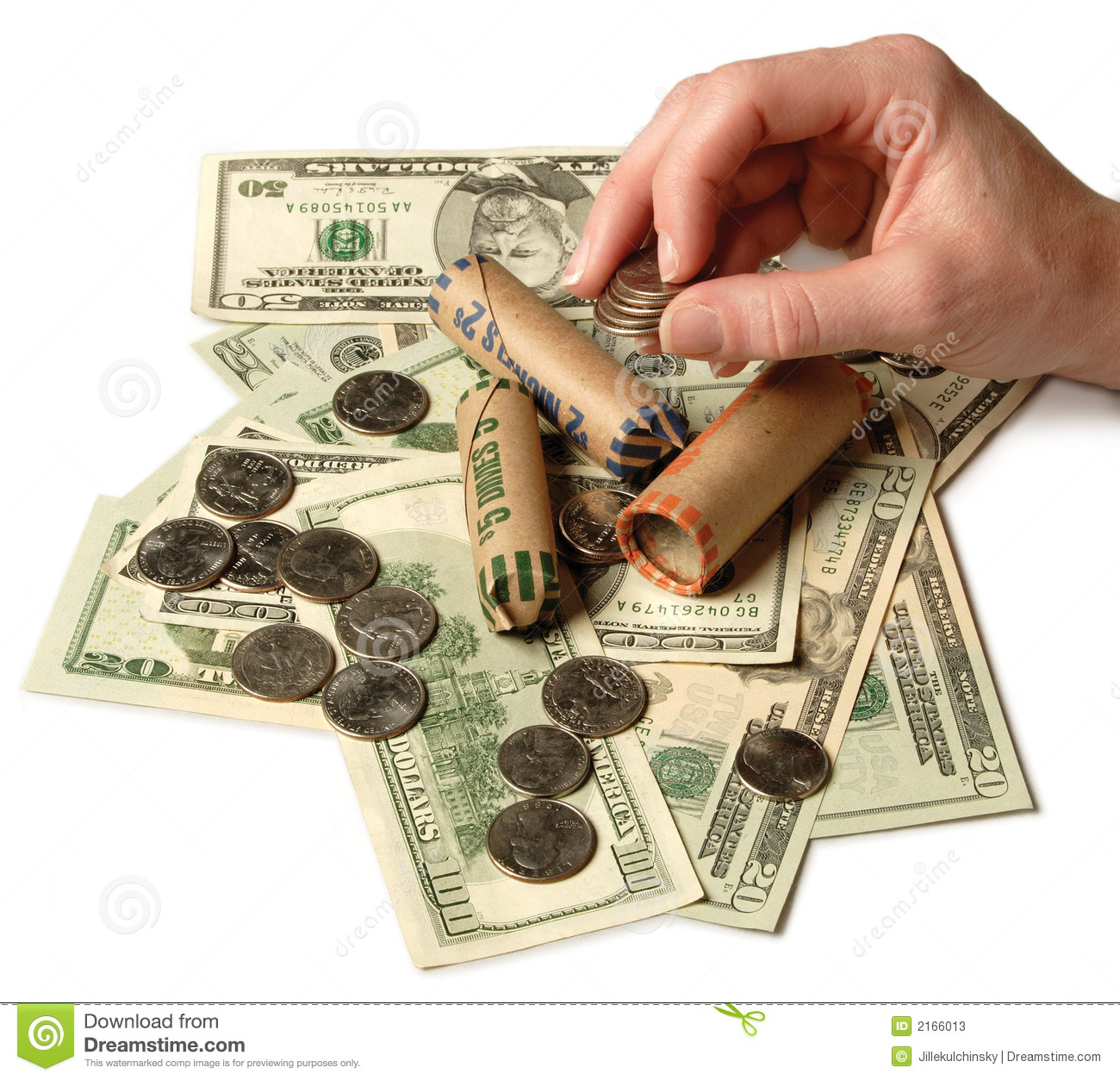 Counting Money Stock Photos