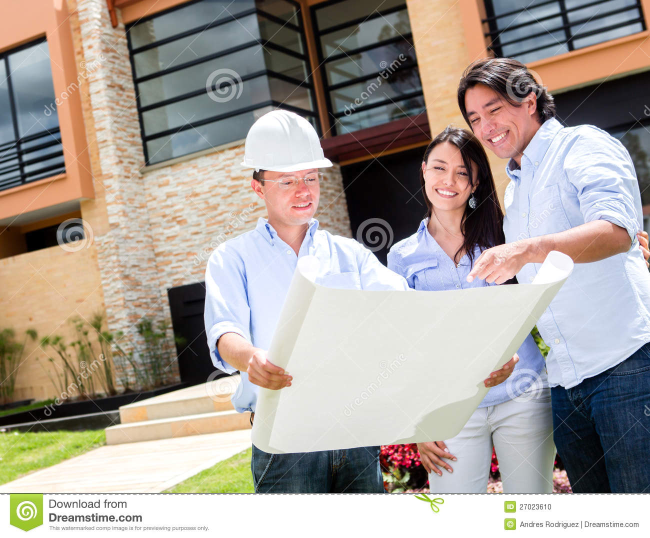 Couple buying a house stock photo Image of adult people  27023610
