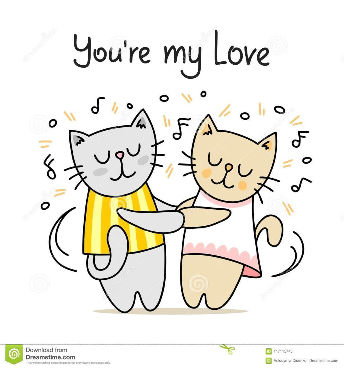 Download Couple Of Cute Cats Dancing With Classic Music. You Are My ...