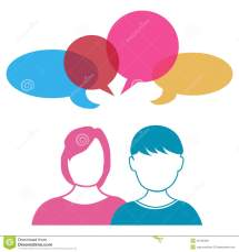 Couple Talking Sharing Ideas Stock Vector - Illustration