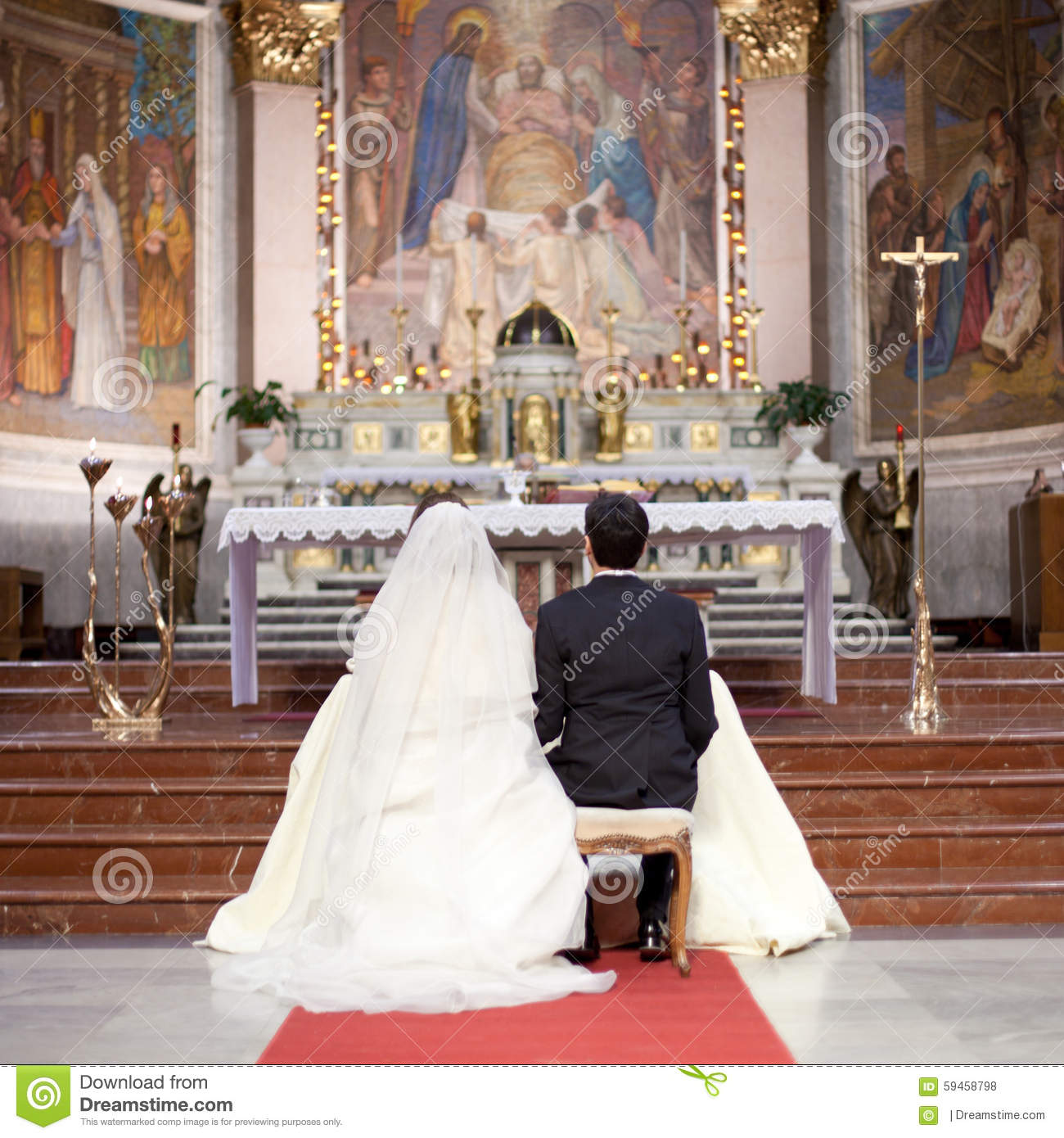 Couple In A Wedding Ceremony Editorial Stock Photo  Image