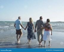 Man Walking Barefoot Tropical Beach Royalty-free