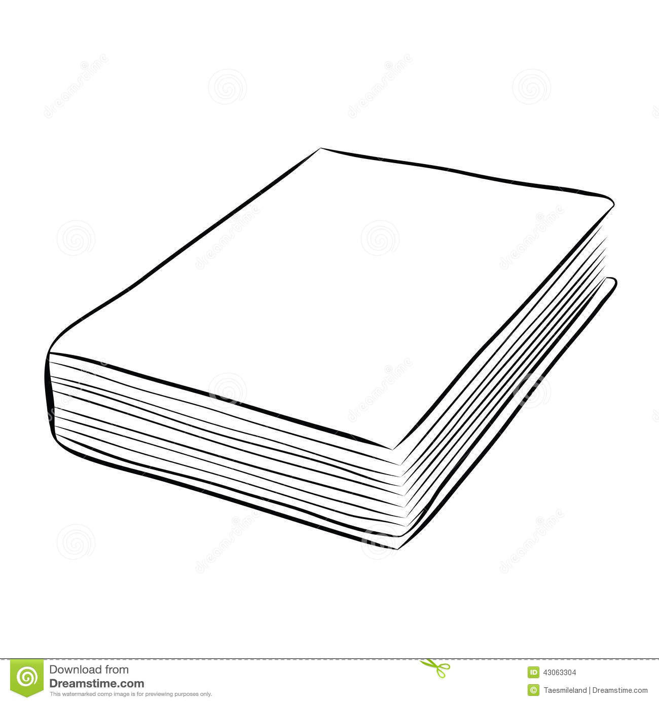 Cover book hand draw stock vector. Image of education