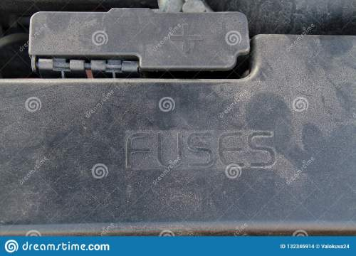 small resolution of cover of a under hood fuse box of a car external plus terminal for jumper cables next to the fusebox