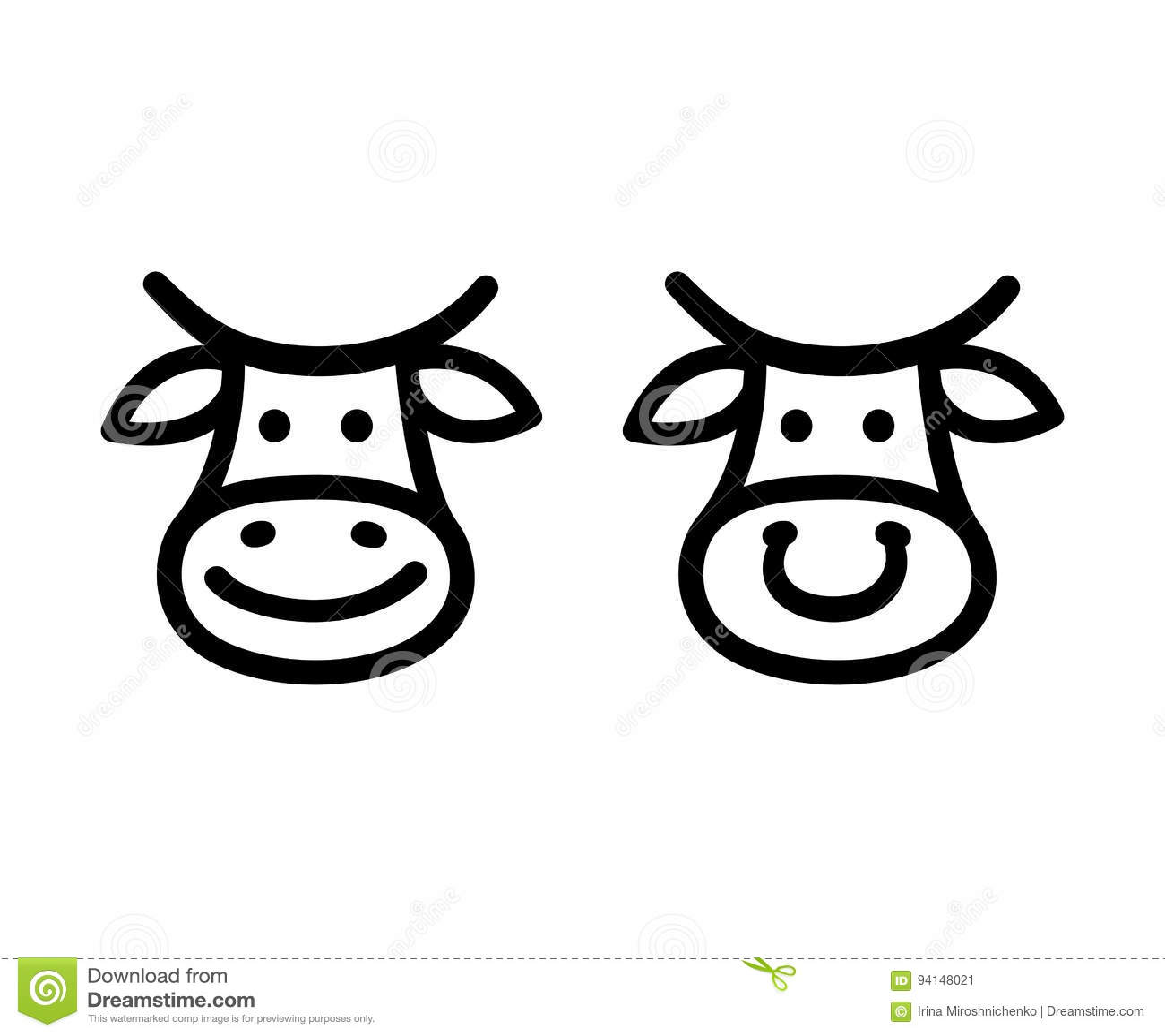 Cow Face Icon Stock Vector Illustration Of Icon Logo