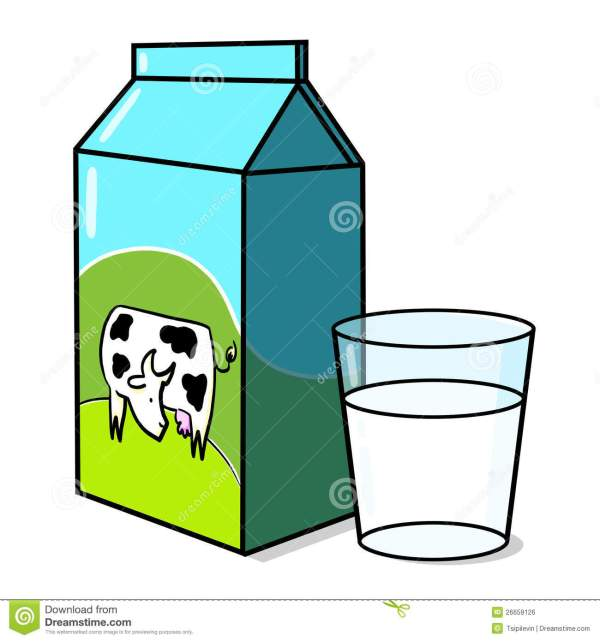 milk carton and glass of