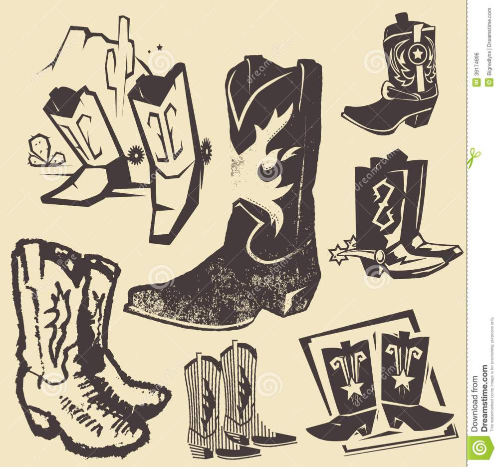 medium resolution of clip art collection of various cowboy boots
