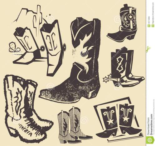 small resolution of clip art collection of various cowboy boots