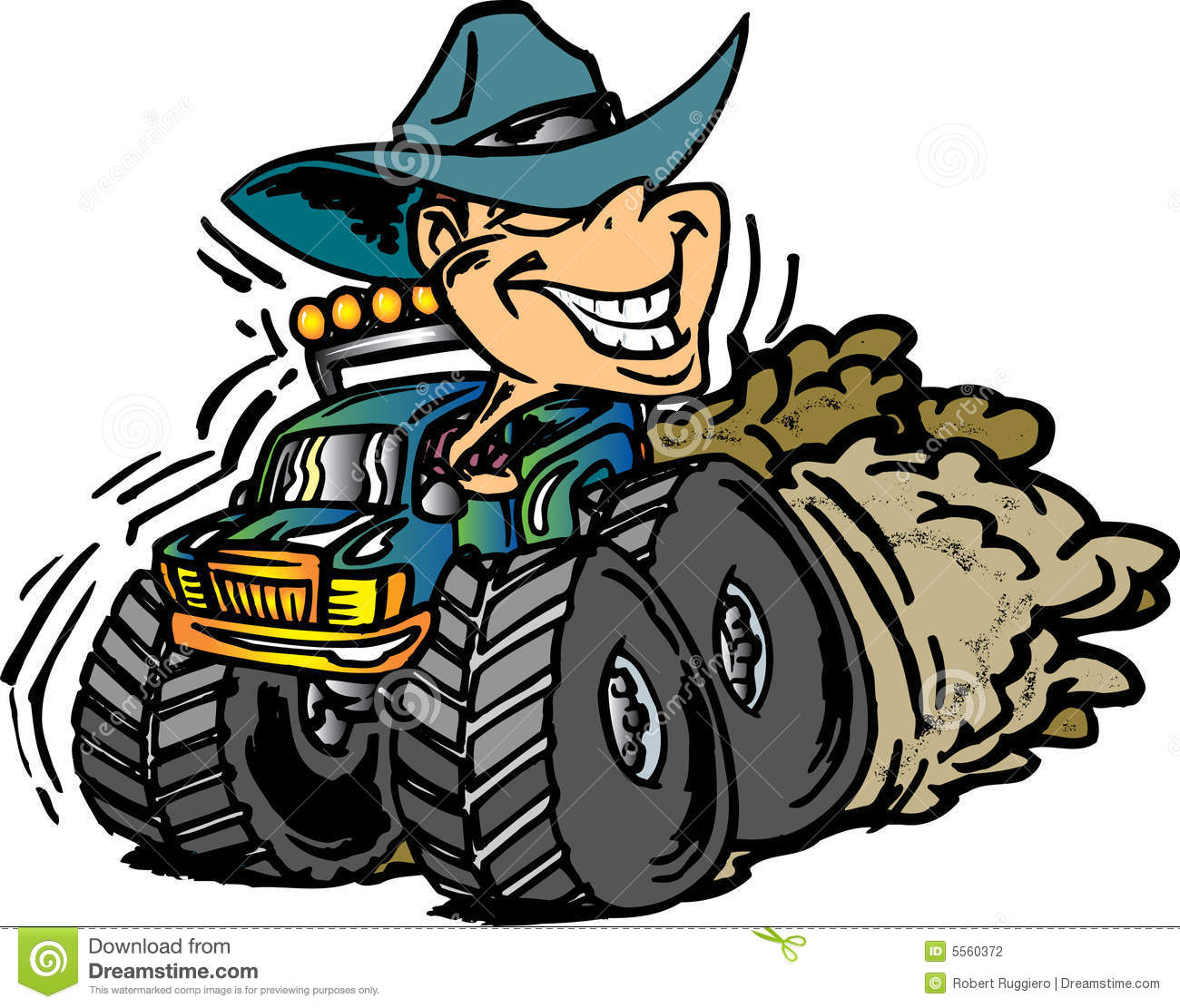 Cowboy On Monster Truck Stock Photography Image 5560372