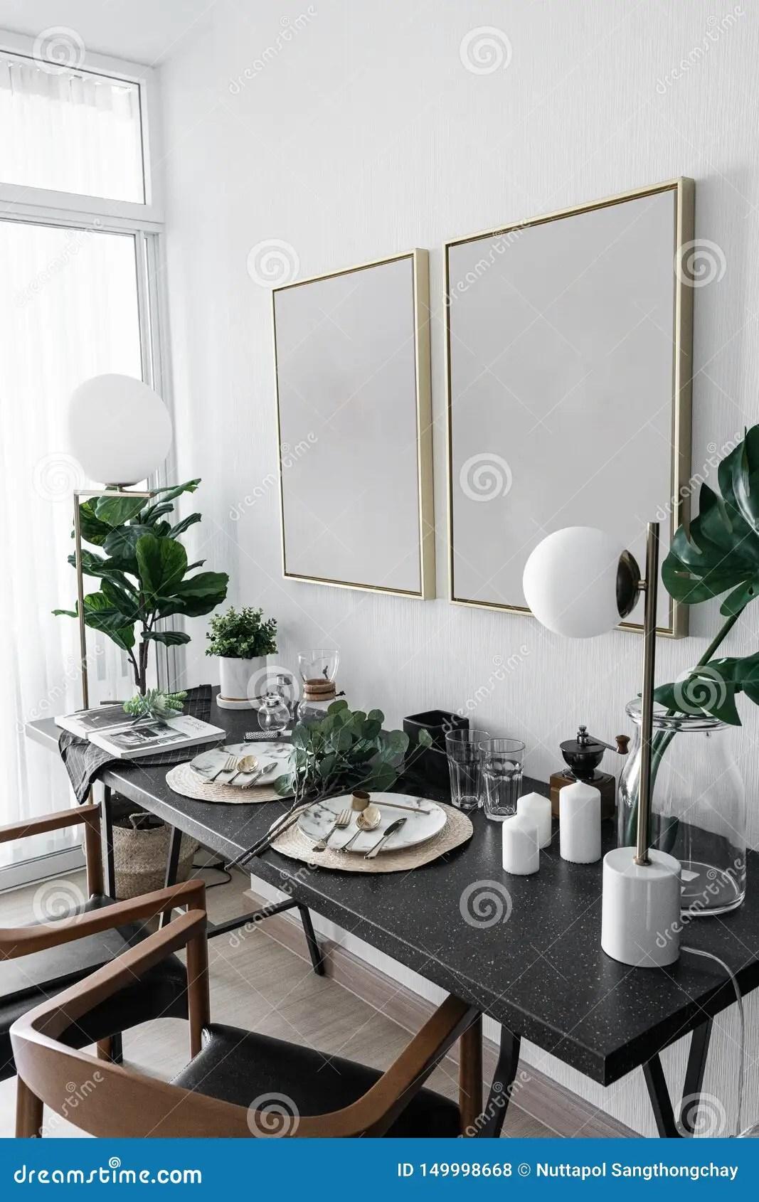 Cozy Dining Corner With Nice Decoration In Scandinavian
