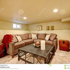 Comfortable Sofas For Family Room Does Goodwill Accept Cozy With Sofa And Wicker Table Stock Image