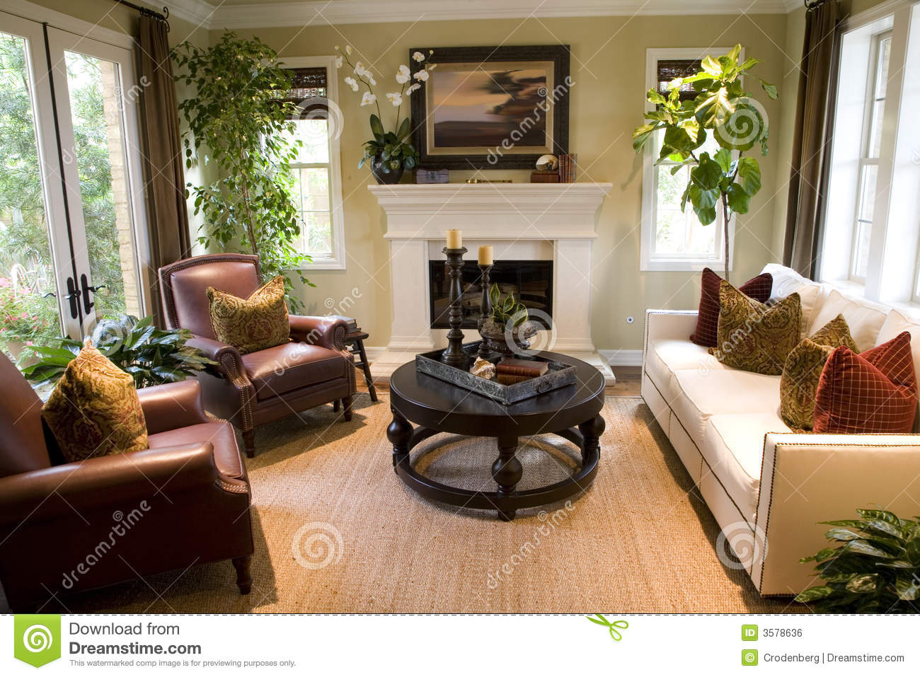 Cozy Living Room Royalty Free Stock Image  Image 3578636