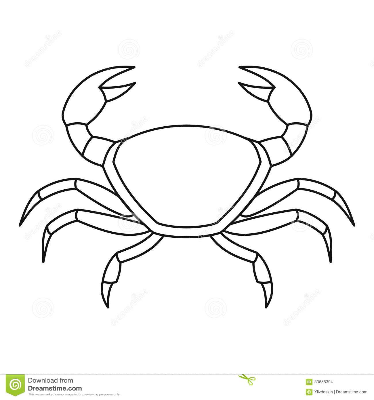 crab template printable