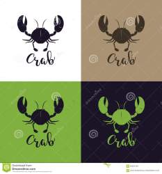 crab seafood silhouette craft template food illustration branding packaging restaurant vector preview
