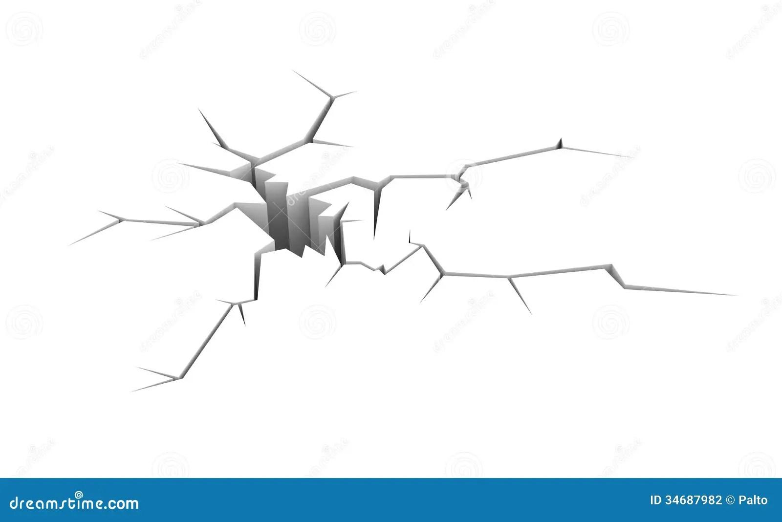 Cracked Ground Stock Illustration Image Of Crushed