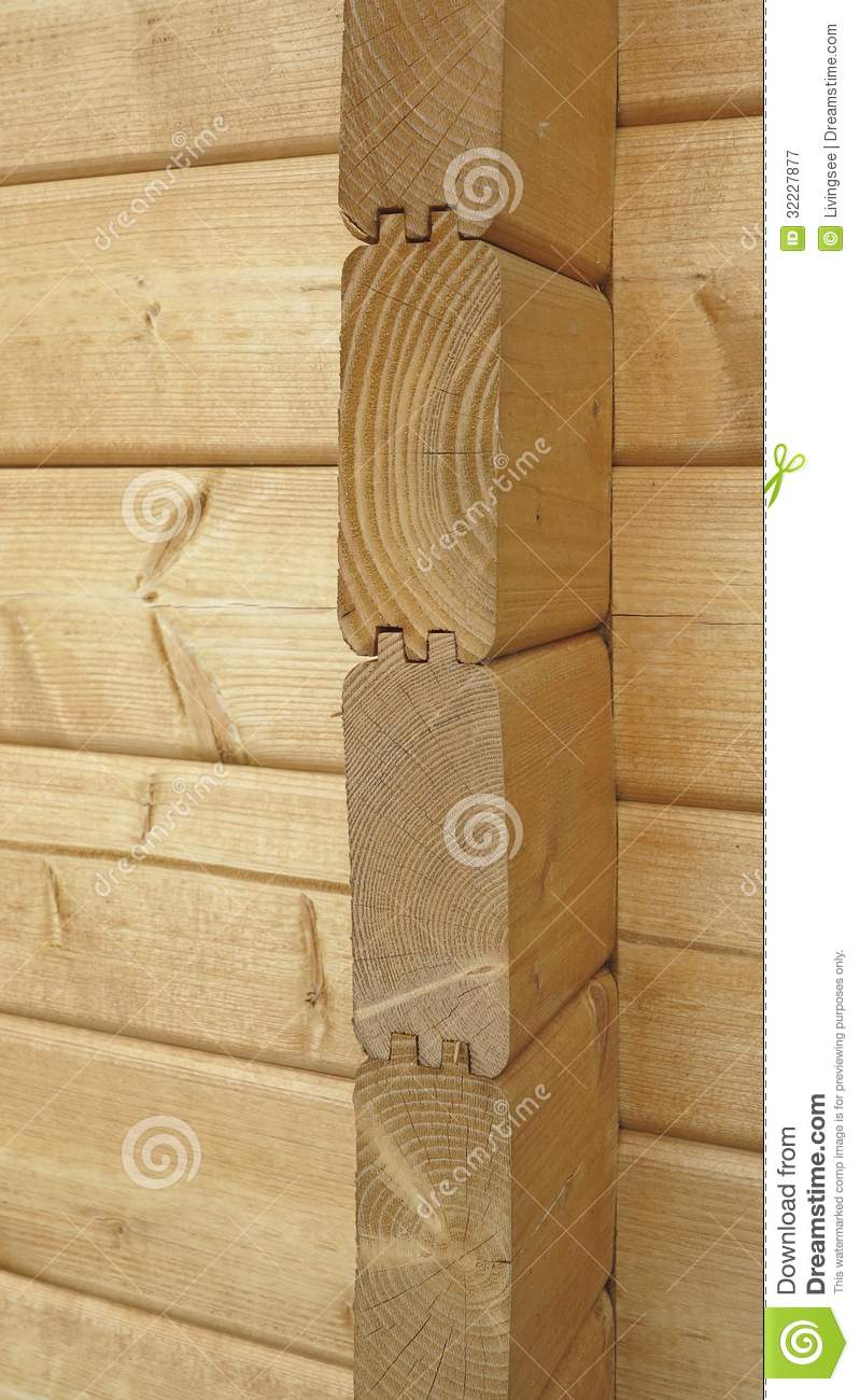 Craftsmanship Connection Of The Wood Walls Corners