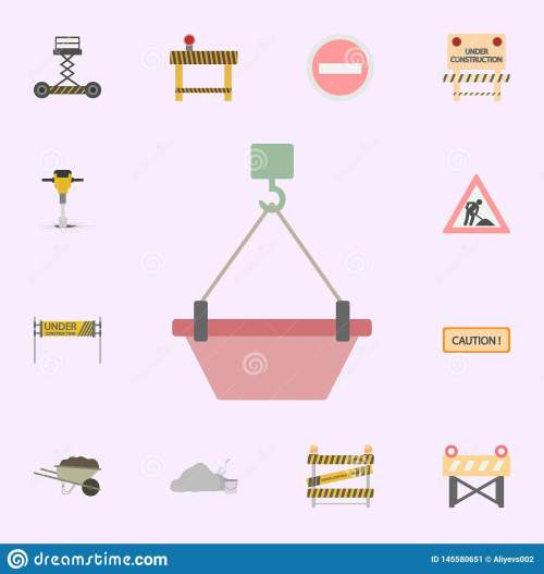 small resolution of crane hook with concrete colored icon building materials icons universal set for web and mobile
