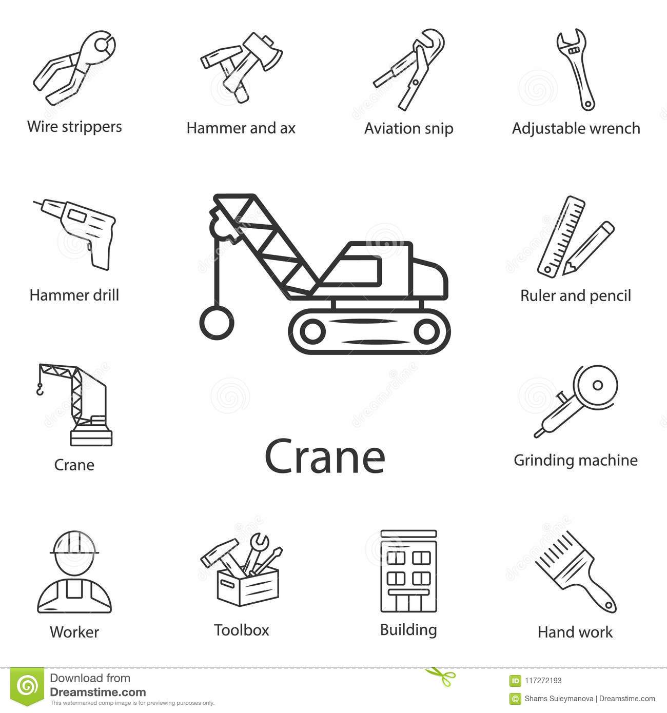 hight resolution of crane icon simple element illustration crane symbol design from construction collection set can