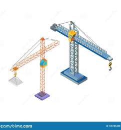 crane industrial machine steel tower with hook for lifting blocks icons vector building constructions hoist working machinery lift moving capacity [ 1600 x 1399 Pixel ]
