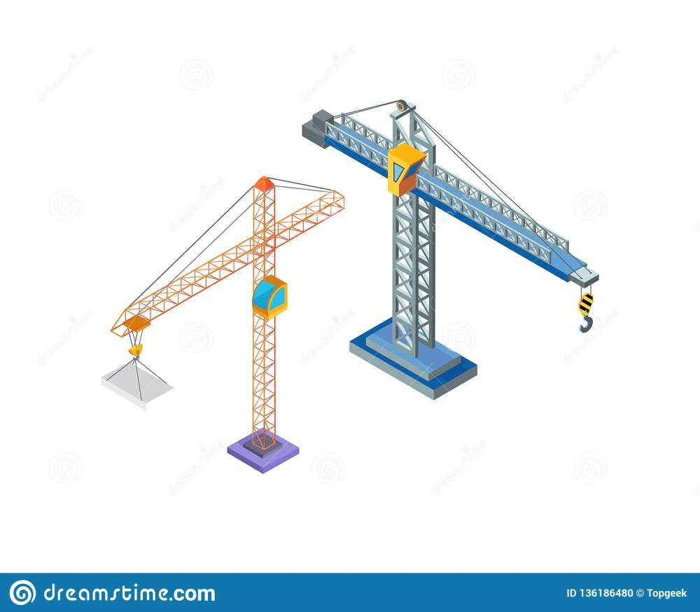 medium resolution of crane industrial machine steel tower with hook for lifting blocks icons vector building constructions hoist working machinery lift moving capacity
