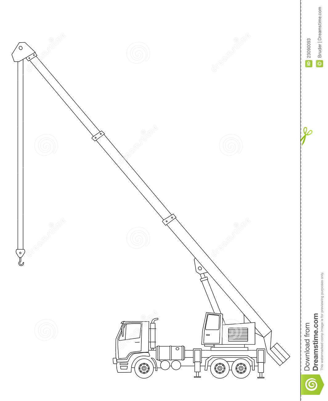 Crane Truck Stock Vector Illustration Of Machinery Load