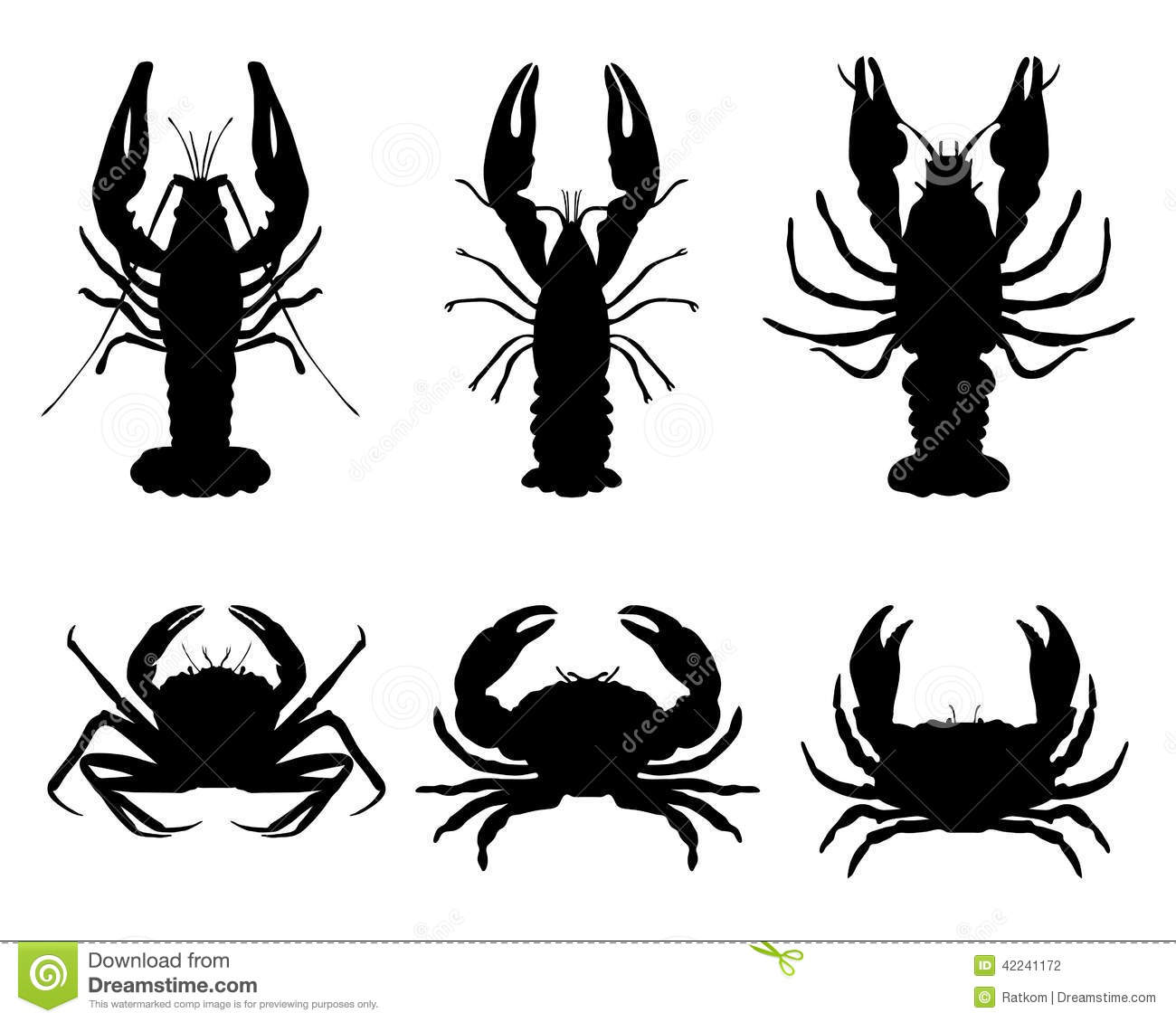 hight resolution of crawfish and crab