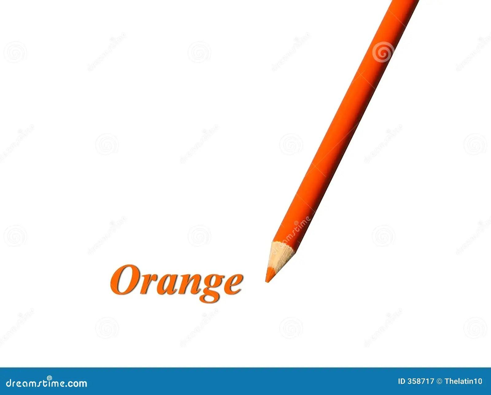 Crayon Orange Image Stock Image Du Elementaire Abord