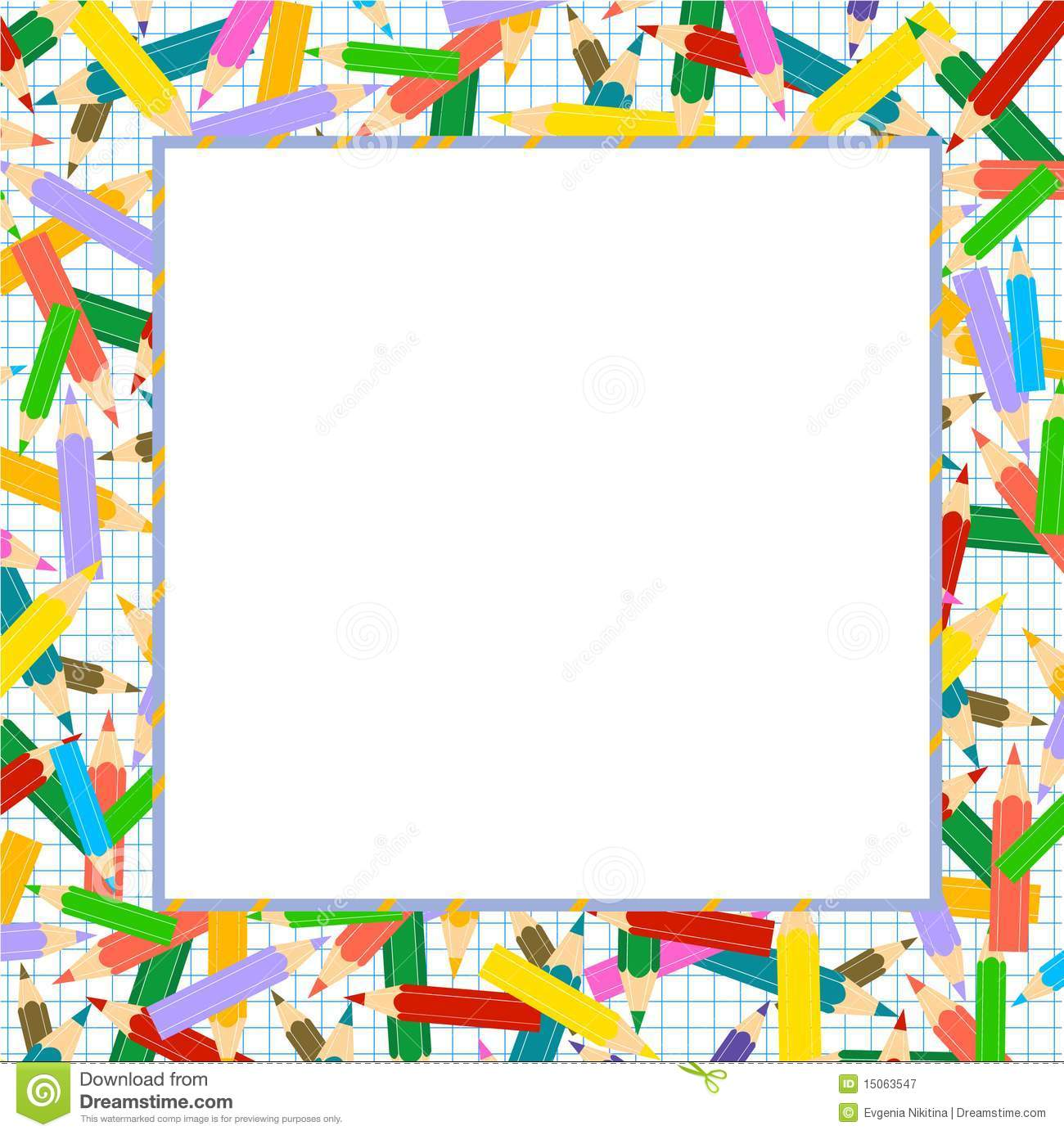 Crayons Frame Stock Vector Illustration Of White