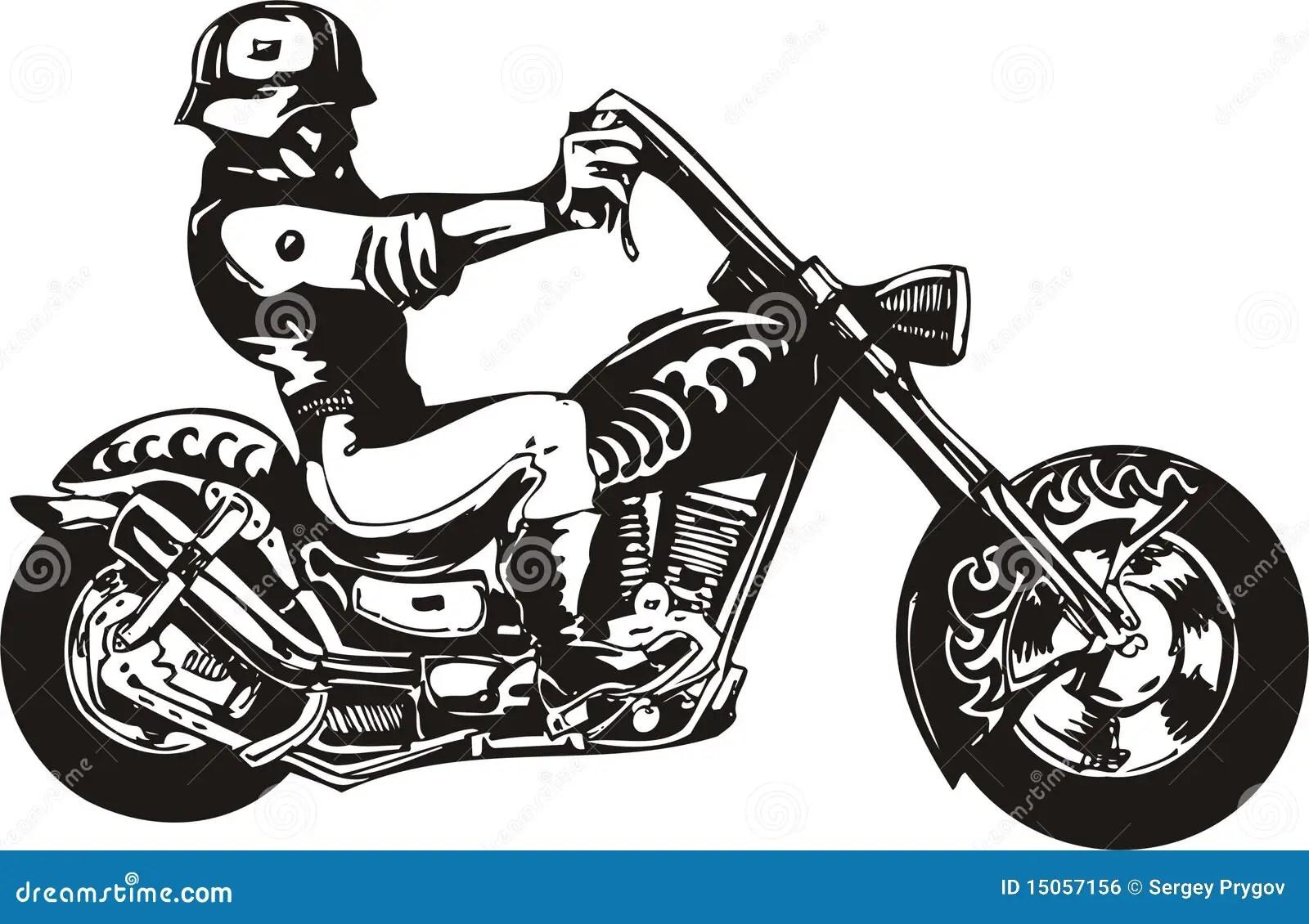 Crazy Biker Royalty Free Stock Image