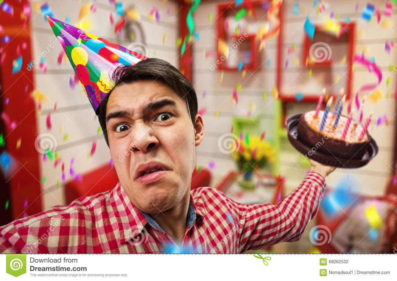 Crazy Birthday Boy Stock Photo Image Of Caucasian