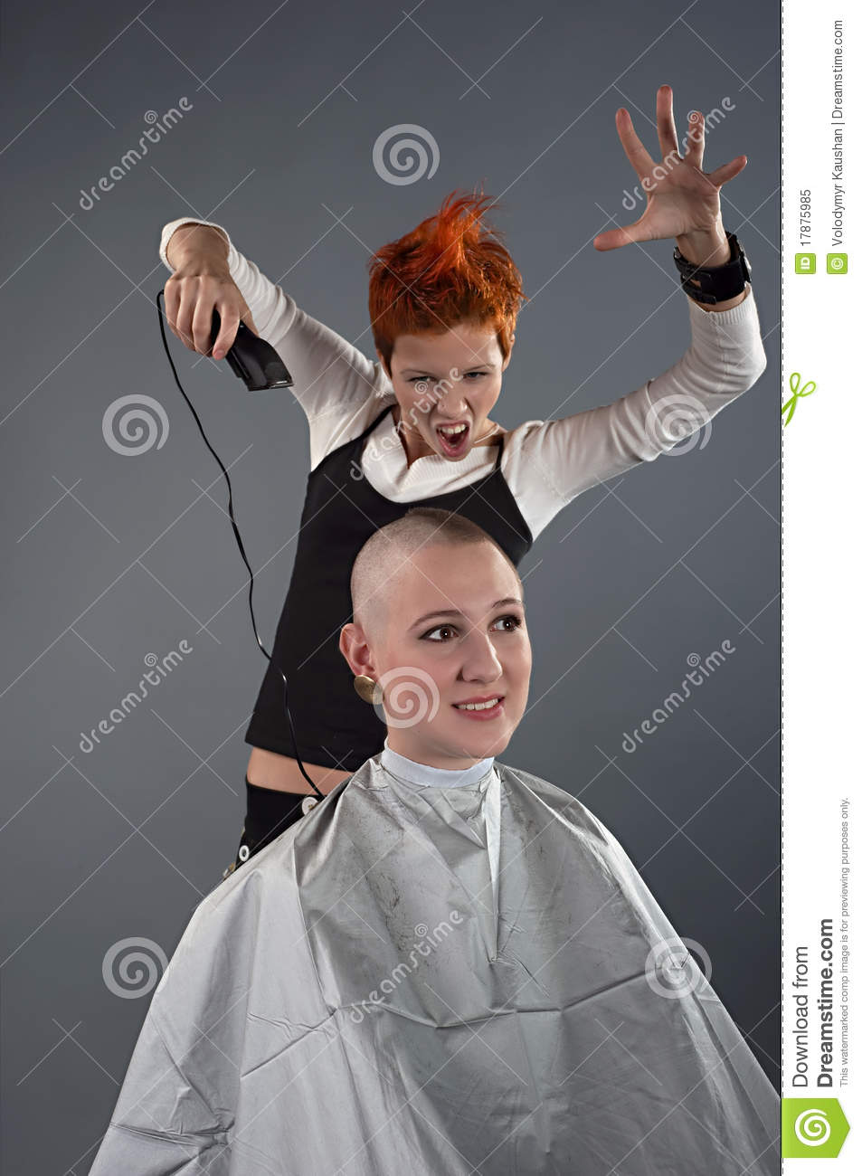Crazy Hairdresser Stock Image Image Of Comb Hair Hand