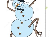 Crazy Snowman Royalty Free Stock Photo - Image: 34721395