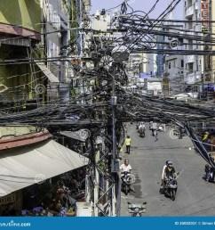 crazy street wiring in saigon ho chi minh city vietnam [ 1300 x 1263 Pixel ]
