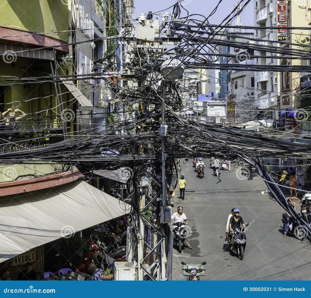 medium resolution of crazy street wiring in saigon ho chi minh city vietnam