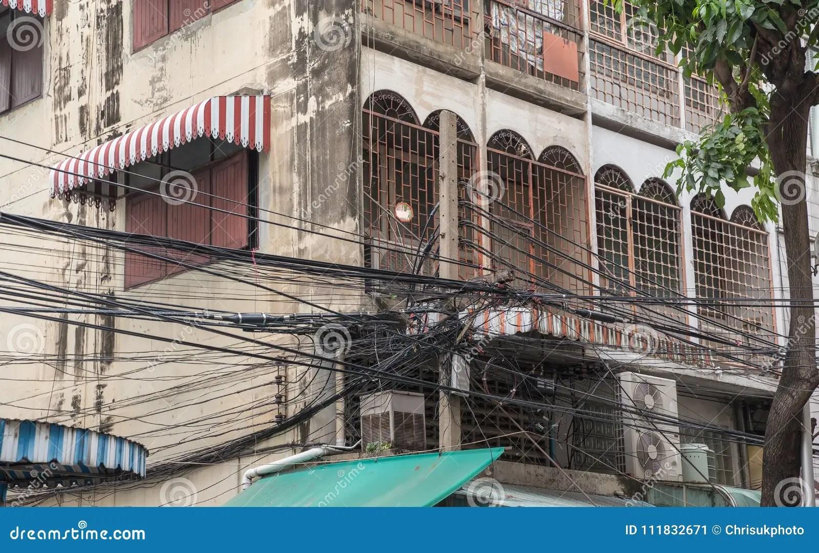 hight resolution of crazy wiring in bangkok