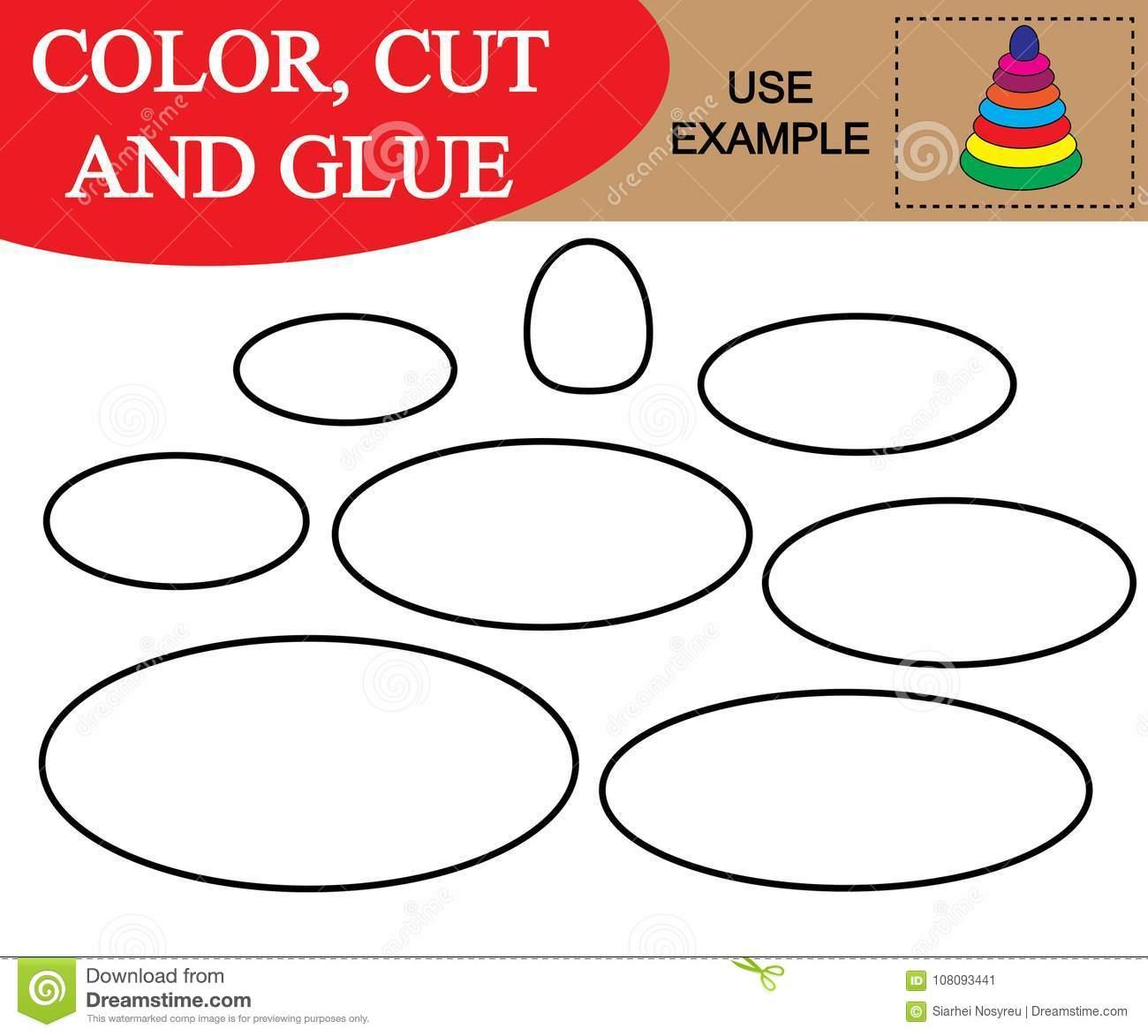 Create The Image Of Baby Pyramid Worksheet Color Cut