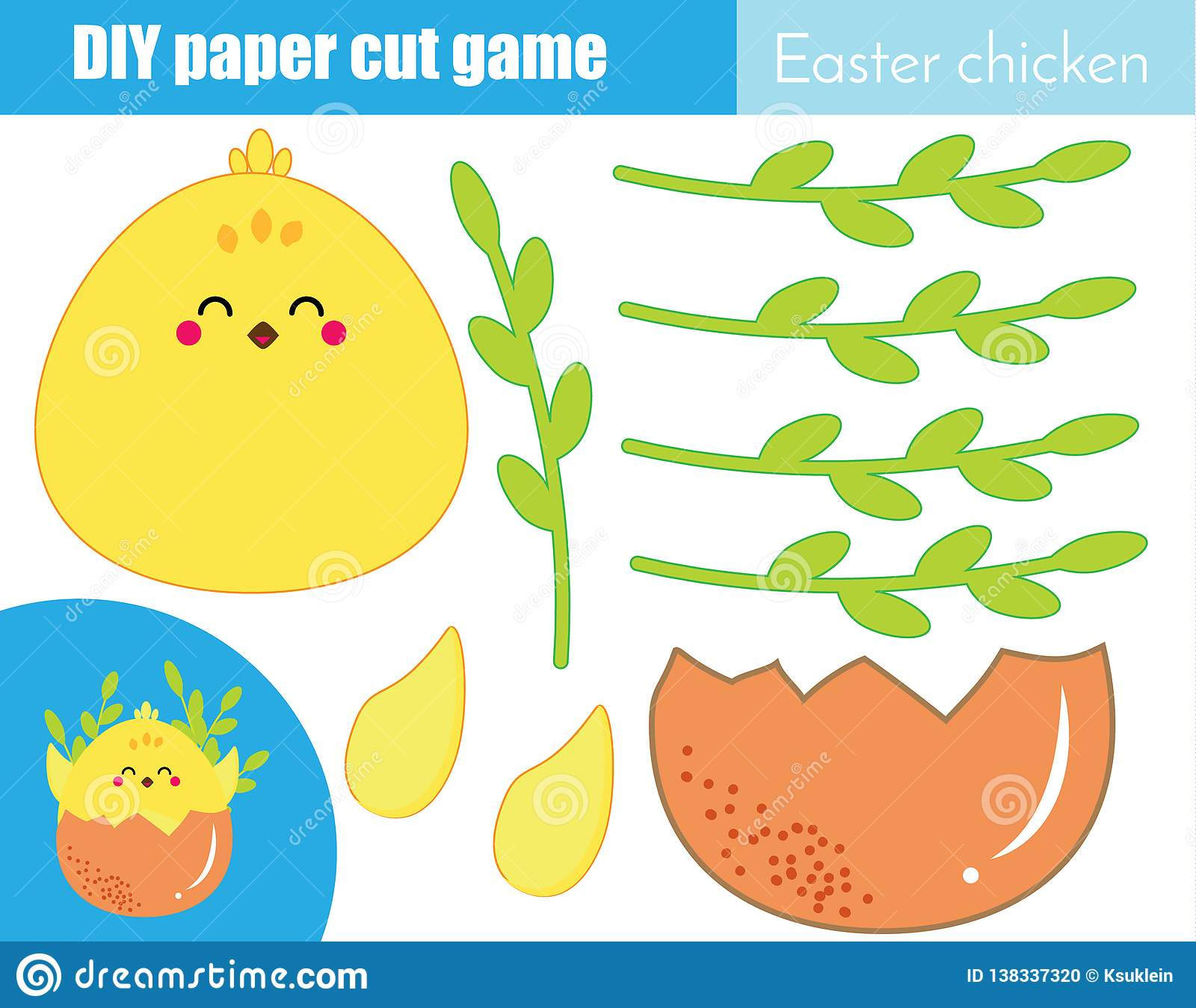 Creative Children Educational Game Paper Cut Activity