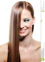 creative hairstyle with smooth