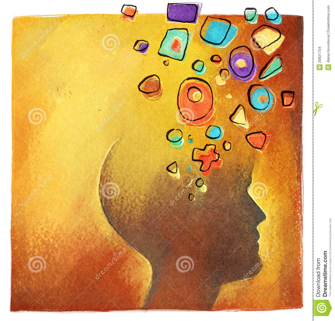 Creative Ideas  Abstract Colorful Head Symbol Stock