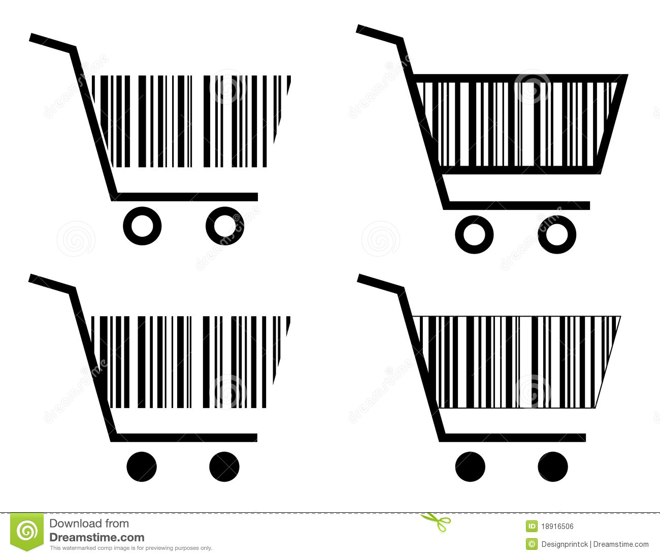Creative Shopping Cart Icon Royalty Free Stock Image