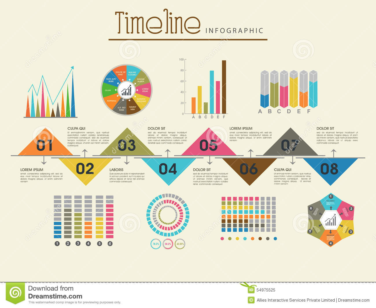 statistical analysis graphs and diagrams lifan wiring diagram creative timeline infographic template layout stock